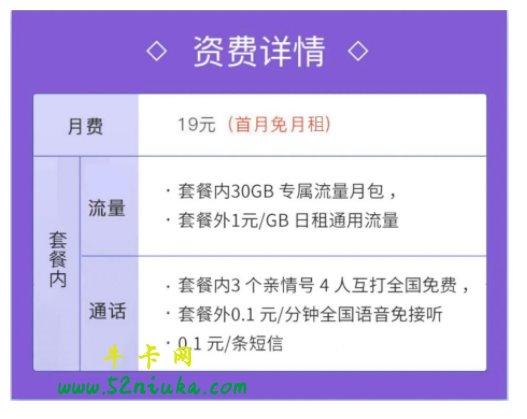 中国移动花卡宝藏版19元套餐介绍()-3